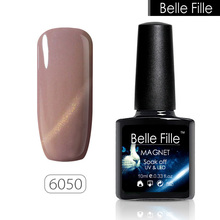 BELLE FILLE Cat Eye Gel Nail Polish 3D Bling Glitter Varnish Manicure Fingernail UV Gel Polish Magnetic Cat Eye Gel Polish(China)