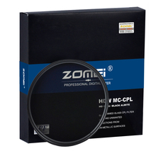 Zomei HD High Definition CPL Circular Polarizer Polarizing Filter Optical Glass For Nikon Canon Nikon Fujifilm DSLR Cameras Lens