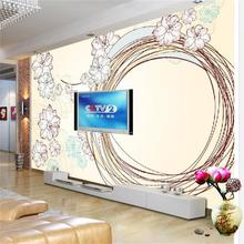3d photo wallpapers custom room non-woven mural Flower circles 3D painting HD photo Sofa bar TV background wallpaper for wall 3d