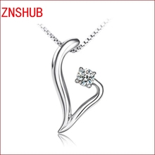 2017 new simple and stylish high-quality sterling silver necklaces Love Dream crystal pendant wholesale women