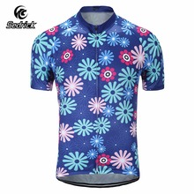 Sedrick Cheap Men's Florals Summer Short Sleeve Cycling Jerseys Breathable MTB Bike Team Road Bicycle Tops Qucik Dry T-Shirts(China)