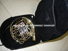 New Arrival Professional CTE 4 key Double French Horn Gold Brass High Quality withcase Free Shipping