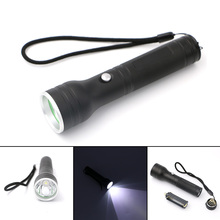 3 Modes LED Rechargeable Flashlight Power By 1*18650 Or 3*AAA Battery Super Bright Torch Light+AC/Car Charger Streamlined Design(China)