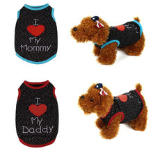 Christmas Gift Sale 2017 Blue And Red Small Pet Dog Clothes Fashion Round Neck Sleeveless Costume Vest Puppy Cat Apparel#25(China)