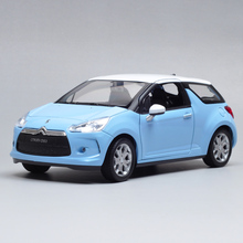 3pcs/lot Wholesale Brand New WELLY 1/24 Scale Car Model Toys 2010 Citroen DS3 Diecast Metal Car Toy(China)