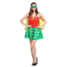 Sexy Women Halloween Robin Superman Costume Movie Batman Cosplay Easter Carnival parade Masquerade masked ball Rave party dress