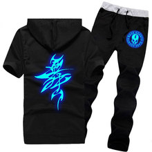 Buy Unisex Summer Clothes + pants Noctilucent Ghost Drag Step Hip Hop Dance Ghost Dance Step Fluorescence Luminescence Ghost Coat for $37.59 in AliExpress store