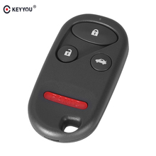 KEYYOU 3+1 Button 4 Button Auto Car Remote Key Shell Cover For Honda Accord 1998-2002 Free Shipping