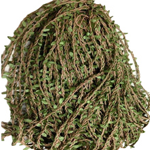 10M Cane Withe Twine String With Green Leaf Wedding Party Festival Home Outdoor Garden Decor DIY Twine Ropes