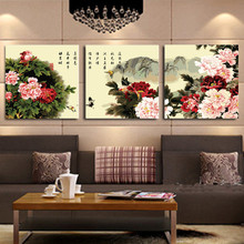 3pcs/lot 50X50cm Handpainted Pictures Painting By Numbers DIY Digital Oil Painting Colorful Flowers On Canvas Home Decor HD1112(China)