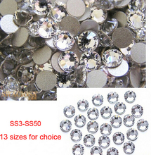 SS3 1440pcs Nails Decoration Nial Art Non Hot Fix Sparkals Glitter Clear Markup Rhinestones For Eye Makeup Design