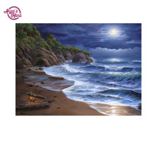 ANGEL'S HAND full drill diamond painting beach pattern cross stitch embroidery paintings 5d full diamond  picture