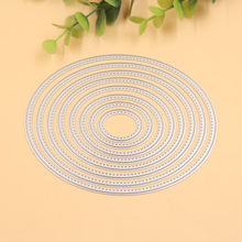 8pcs Oval metal die cuts metal cutting dies scrapbooking suit for  cutting machine
