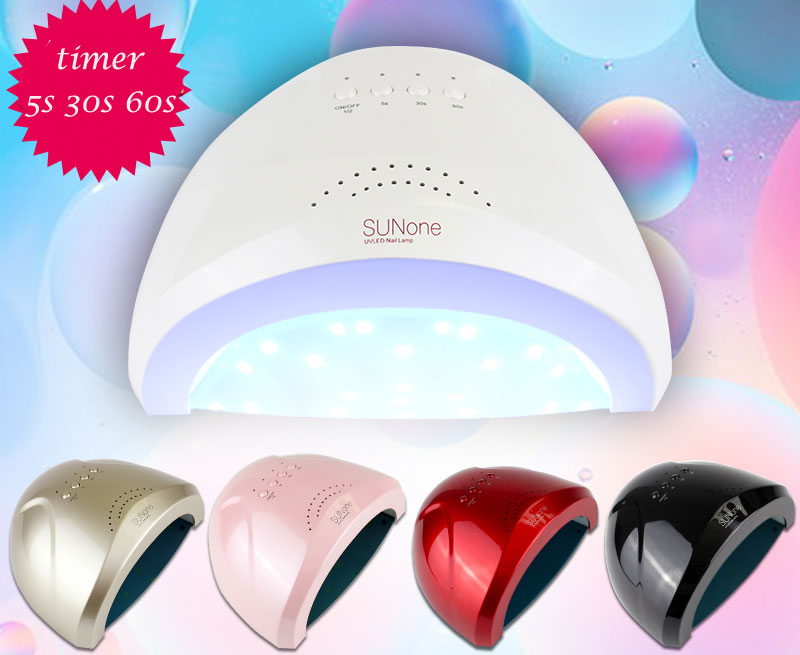 SUNOne White Light Professional 24W/48W UV Led Lamp Beauty Makeup Cosmetic Nail Dryer Polish Machine for Curing Nail Art Tools<br>