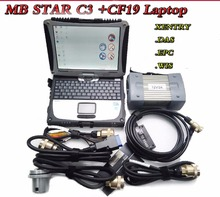 High Quality MB STAR C3 Diagnosis Multiplexer Professional SCAN Tool STAR C3 pro for Car &Truck with HDD and Laptop CF-19