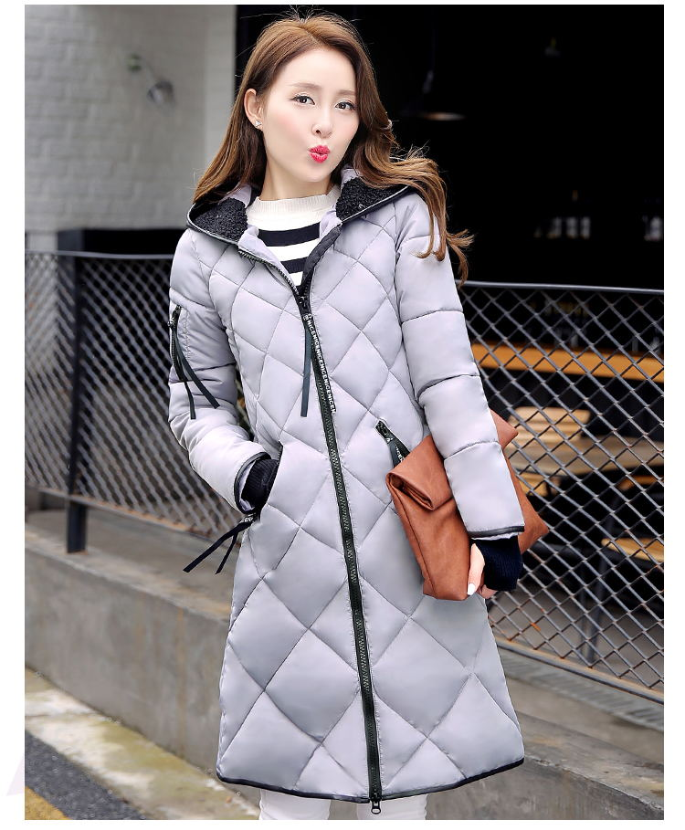 2017 Winter Coat Women New Winter Jacket lady Cotton Long Hooded Section Coat women Thick Slim Waist Parkas OutwearОдежда и ак�е��уары<br><br><br>Aliexpress