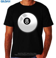 Unique Graphic Tees Gildan Office 8 Ball Pool Billiards Game Sporter O-Neck Short-Sleeve Mens Tee(China)