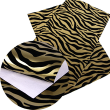 david angie 20*34cm Leopard Zebra Printed Short Velvet Synthetic Leather Fabric,Sewing Fabric (Random Direction),1Y56369
