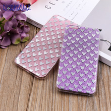 Glitter Case For iPhone 6 6s Plus 5 5s SE 7 7Plus 8 8Plus Luxury Bling Sparkling Heart Silicone Soft Phone Cover Accessories(China)