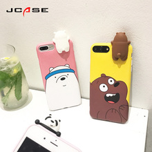 New Cartoon Bear Cover Cell Phone Cases For iphone 6 6S plus Case Fashion Cheap Soft Silicone Cover For iphone 7 7Plus Coque