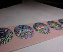 Free design ! secure genuine uv hologram sticker , void if removed(China)