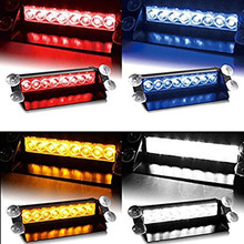 Pluseye 8 LED Car Styling Warning Flashing Light Truck Emergency Strobe Light Lamp Bar 12V Police Light For Honda Civic Audi Car(China)