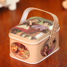 British Style Fashion Lovers Design Gift Boxes Storage Case Tin Box Wrought Iron Candy Store Content Box