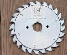 Free shipping of 1 Pair of 120*2.8-3.6*20*12+12 TCT Adjustable scoring saw blade for PVC pipes/Aluminum profile scoring work(China)