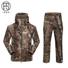 Hot Sale Tactical Men Soft shell TAD Jacket + Pants Waterproof Outdoor Hunting Fleece Lining Jacket Hiking Camping Sport Suits(China)