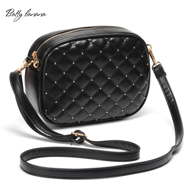 BATTY BANANA Fashion Crossbody Bags Women 2018 Rivet Handbag Shoulder Bag Women Designer Zipper Messenger Bag Womens Handbag