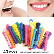 40 Sticks / Pack Multi Color Dental Ligature Ties Orthodontics Elastic Rubber Bands(China)