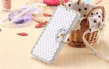For Samsung Galaxy Note 2 3 note 4 Note 5 Luxury Fashion Crystal Colorful Shinestone Silk PU Leather Cell Phone Hard Bling Bags