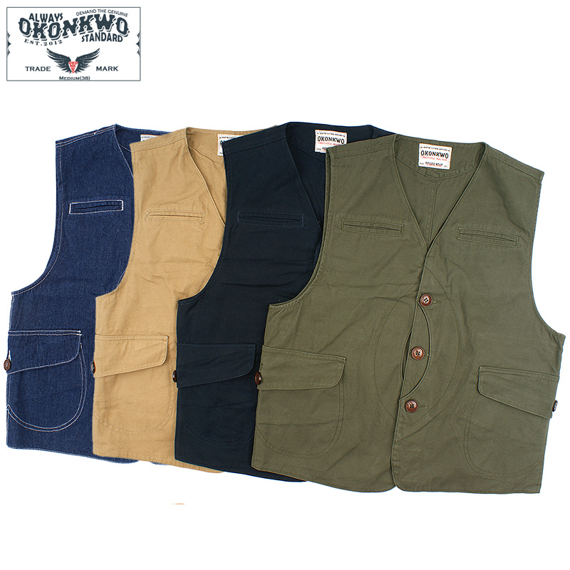 Men Waistcoat Gilet Vest Sleeveless Jacket Military Pocket Vintage Retro Casual