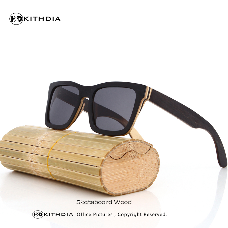 Free Shipping TOP black wooden Sunglasses Handmade Natural Skateboard Wooden Sunglasses Men Women Wooden polarized sunglasses<br><br>Aliexpress