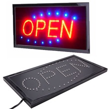 New Bright Animated Motion Running Neon LED Business Store Shop OPEN Sign with Switch US plug(China (Mainland))