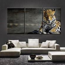 3 piece cool multicolored tiger oil painting cheap price on canvas frameless wall hanging live animal print picture home decor