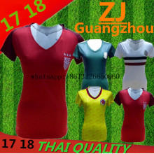 Thai quality 2017 2018 home Colombia Mexico USA soccer jerseys women football Jersey shirts