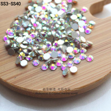 QIAO Glitter Rhinestones Crystal AB ss3-ss40 DMC Non Hot Fix FlatBack Strass Sewing & Fabric Garment Rhinestone Nail Art Stone(China)