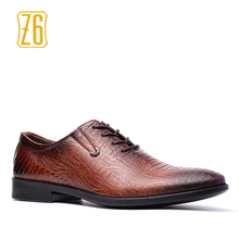 Z6 Men Dress shoes Handsome comfortable Brand PU men oxfords #W7038(China)