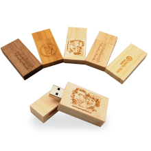 Fashion Personality LOGO Wooden block USB Flash Drive red wood pendrive 4GB 8GB 16GB 32GB Pen Drive Memory Stick wedding gift(China)