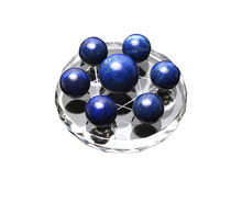 Natural lapis lazuli crystal ball seven array decoration feng shui ball transhipped ball hypnosis wholesale 20mm-30mm+stand(China)
