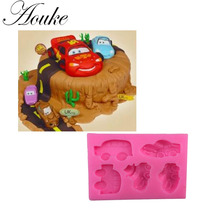 Aouke 1PCS Cars Shape Food Grade Silicone Soap, Chocolate, Cake Silicone Cake Molds, Fondant Cake Decorate X073(China)