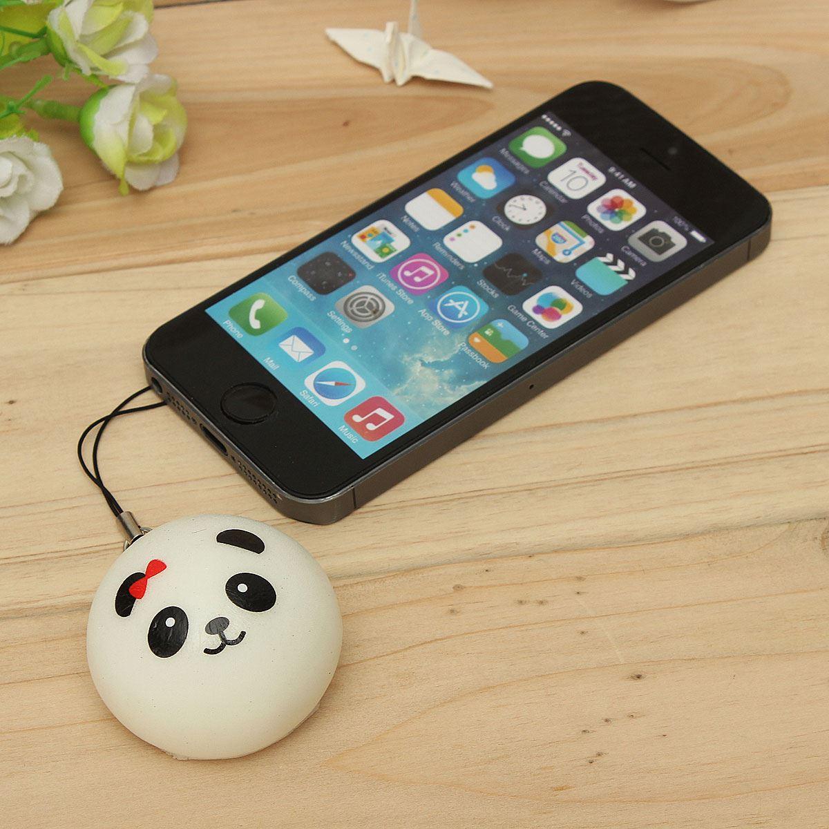 Squishies for sale - Wholesale High Quality Cute Cartoon Face Squishy Buns Panda Bag Key Mobile Phone Straps Pendant 4cm
