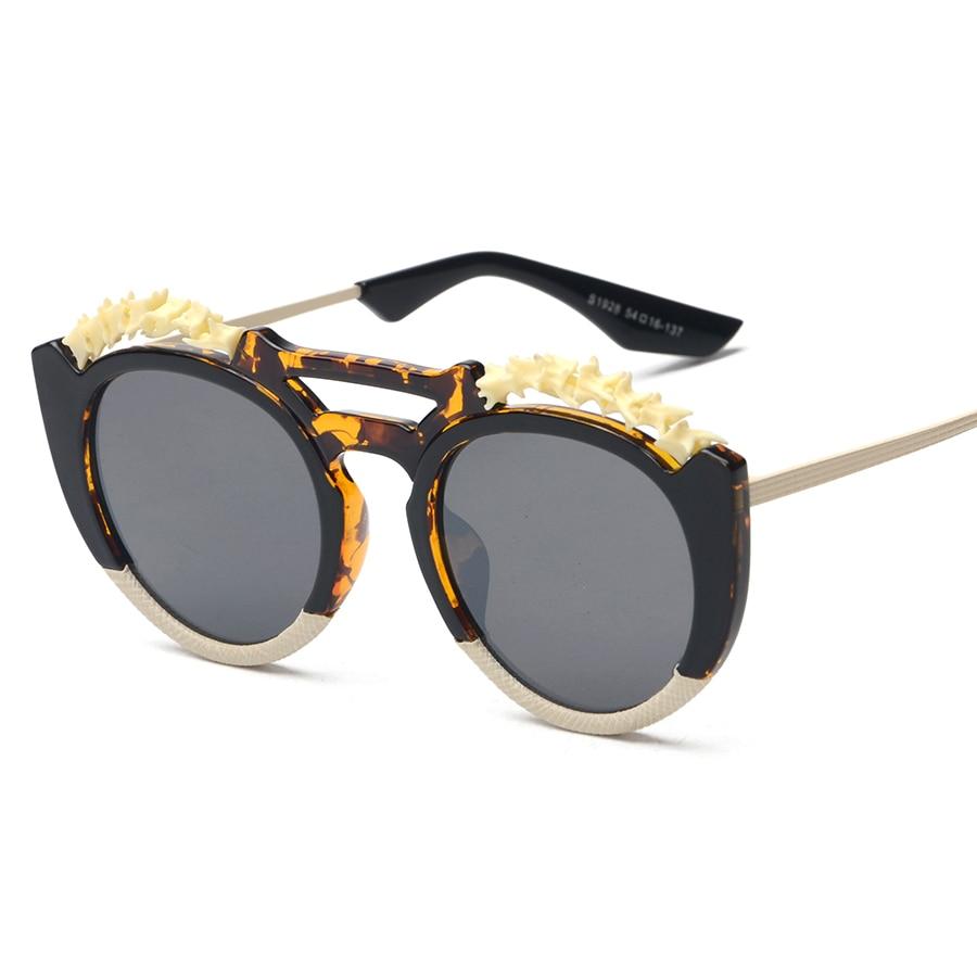mimiyou Round Vertebra Bone Glasses Eyewear New Vintage Retro Fashion Sunglasses Unisex Women Men UV400 oculos de sol  feminino<br><br>Aliexpress