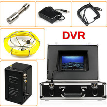 "Duct Cleaning Sewer Pipe Camera System Equipment For Pipeline with 7"" LCD DVR Functional 20m Fiberglass Cable"