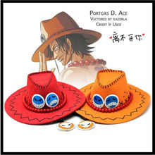 New Fashion Hot Anime One piece cap White beard Pirates regiment Portgas D Ace baseball cap yelllow cartoon cowboy hat Souvenirs