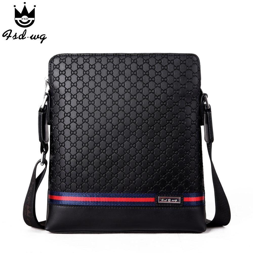 New hit color shoulder bags split leather bolsas famous brand design mens business mens crossbody bag men Satchels bolsos<br>