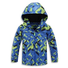 Children Boys Outwear Coats New 2017 Spring Fashion Waterproof Windproof Hooded Jackets For 3-12y Boys Brand Kids Sport Clothes