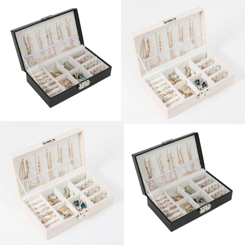 Fashion Women Portable Travel Jewelry Box Organizer Velvet Ornaments Storage Case Gift Box