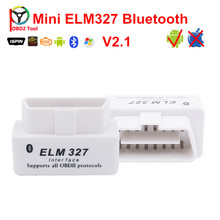2017 Newly ELM327 V2.1 Support Android /PC Elm327 OBD2 Bluetooth Adapter with Multi-languages For Cars Scanner Tools(China)